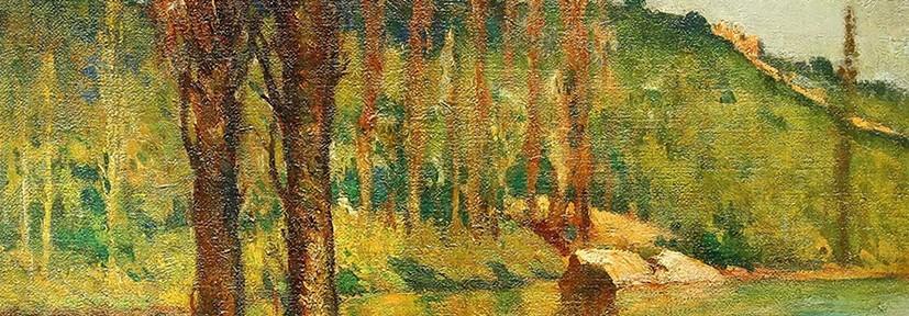 Arroyo de los Alamos . óleo sobre lienzo . 90x96cm . 1940