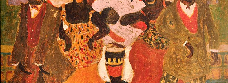 Candombe . óleo sobre cartón . 48x62cm . 1928