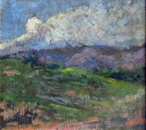 Paisaje . óleo sobre lienzo . 23x25cm . 1915