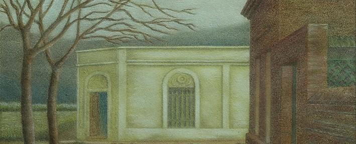 Suburbios, Chascomús . pastel sobre papel . 20x28cm . 1950