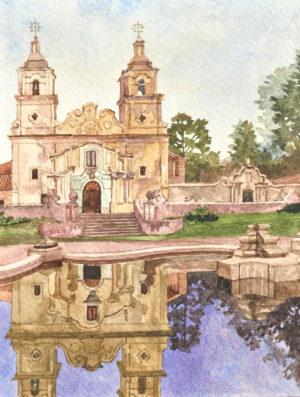 Estancia Jesuitica Santa Catalina . acuarela sobre papel . 19x16cm . 2010