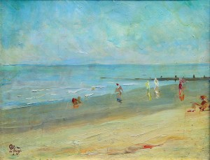 Playa Serena . óleo sobre cartón . 28x35cm . 1920