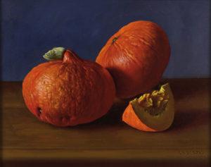 Zapallos . óleo sobre lienzo . 40 x 50 cm . 2014
