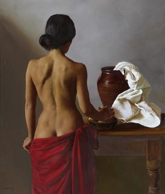 La Pose . óleo sobre lienzo . 124 x 104 cm . 2015