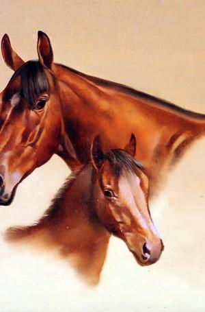 """Enrique Castro """"Maternidad"""", óleo sobre lienzo, 40x50 cm, 1980"""