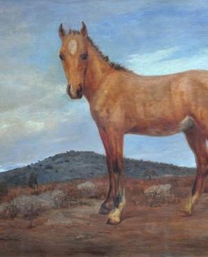 """Luis Cordiviola """"Portillo Gateado"""", óleo sobre lienzo, 132x195 cm, 1923"""