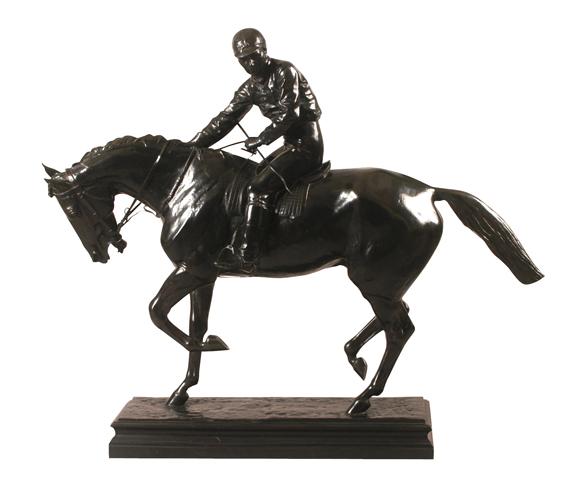 "Isidore Bonheur ""Le Grand Jockey"", bronce, 91x114x30 cm, 1890"