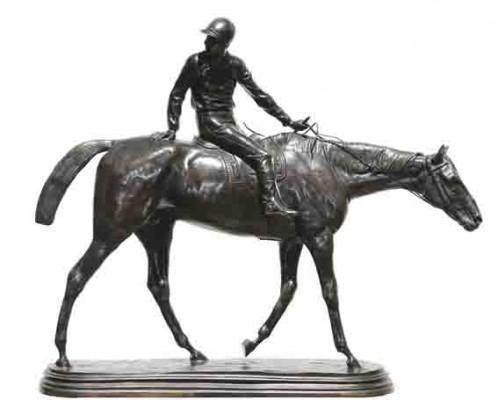 "Isidore Bonheur ""Retorno del Pesaje"", bronce, 52x62x18 cm, 1889"