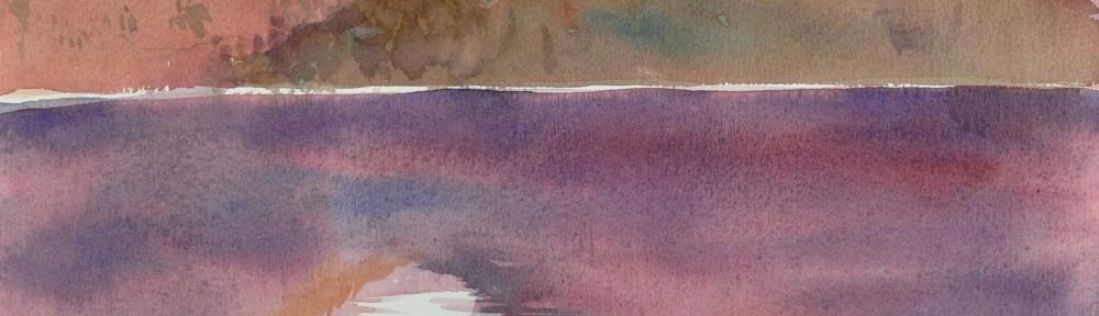 Lascano Juan . Lago Moreno, Bariloche . acuarela sobre papel . 23x31cm . 2012