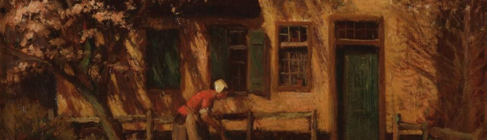 Mujer en la Huerta . óleo sobre lienzo . 38x49 cm . 1935
