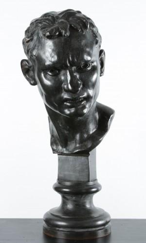 "Rogelio Yrurtia . ""Cabeza de Boxeador"" . bronce a la cera perdida . 65x22x35cm . 1923"