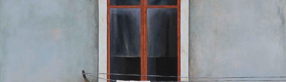 "Natalia Sánchez Valdemoros . ""La Italiana II"" . 35 x 35 cm . Óleo sobre Lienzo . 2015"