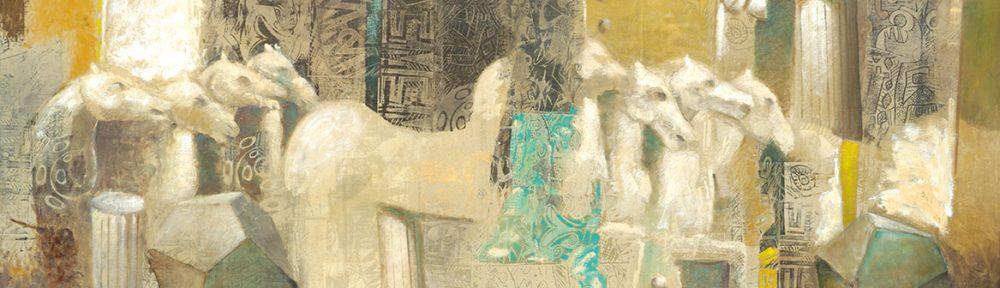 Mármoles de Efeso II . óleo sobre lienzo . 60x150cm . 2015