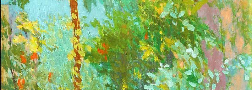 Rincón del Jardín. Óleo sobre Tabla. 41x25 cm. 2003