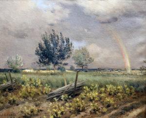 "Jean Charles Cazin. ""Arc en ciel"". Óleo sobre lienzo. 46x55 cm. 1890"