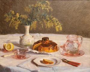 "Camille Boiry. ""Naturaleza Muerta"". Óleo sobre lienzo. 54x65 cm. 1940"