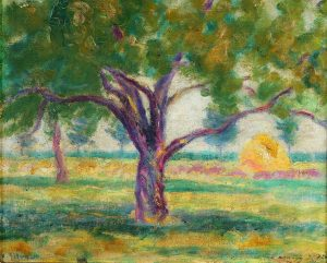 "Ramón Silva . ""Día de Primavera"" . óleo sobre lienzo . 32x40cm . 1914"