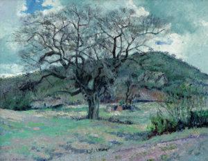 """Luis Aquino . """"Tala en Invierno"""" . óleo sobre tabla . 80x90cm . 1947"""
