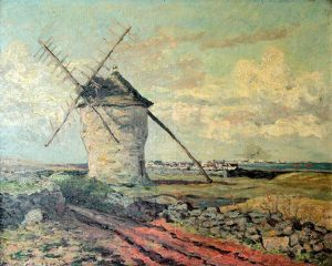"""Maxime Maufra. """"Le Vieux Moulin a Vent"""". Óleo sobre lienzo. 65x80 cm. 1911"""