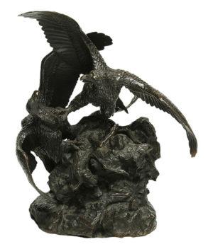 """Emanuelle Fratin. """"Águilas"""". Bronce. 44x25x26 cm. 1838"""