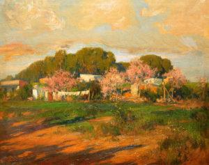 "Fausto Coppini . ""Llegando a la Quinta"" . óleo sobre lienzo . 74x115cm . 1930"