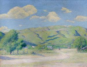 "Italo Botti . ""Mañana Otoñal"" . óleo sobre lienzo . 67x85cm . 1925"