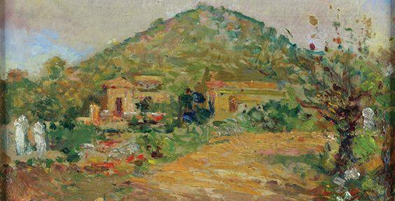 Paisaje de Río Ceballos, óleo sobre cartón, 19x24cm.