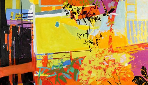 "Graciela Genovés. ""Gran Jardín"", óleo sobre lienzo, 190x170cm, 2016."