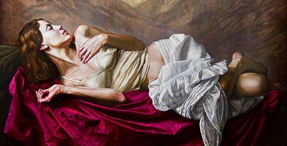 Siesta en las Parras, óleo sobre lienzo, 150x160cm, 2013.