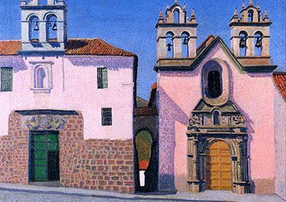 Plaza de las Nazarenas . óleo sobre lienzo . 100x100cm . 1928