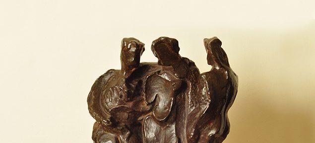 Pablo Curatella Manes . Las Tres Gracias . bronce . 38x31x11cm . 1930