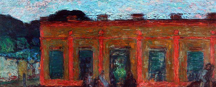 Cesáreo Bernaldo de Quirós . Tertulia Provinciana . óleo sobre tabla . 58x71cm . 1944