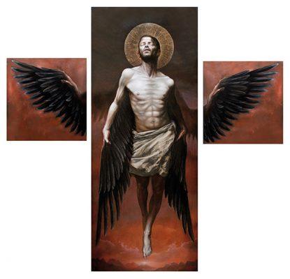 Cóndor Andino –tríptico-, óleo sobre lienzo, 250x260cm, 2016.