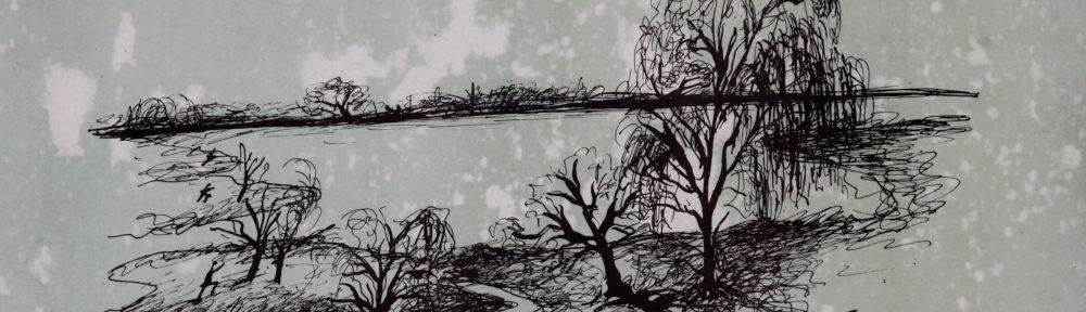 Los Pantanos, Litografía, 29x39cm, 1942