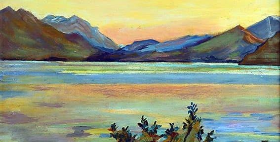 Lago Mascardi, Bariloche, 27x37cm, 1936.