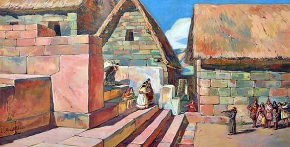 San Francisco Solano en el Cusco, Perú, Gouache, 48x81cm, 1945.