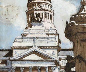 Congreso Nacional, Buenos Aires, Gouache, 50x31cm, 1917.