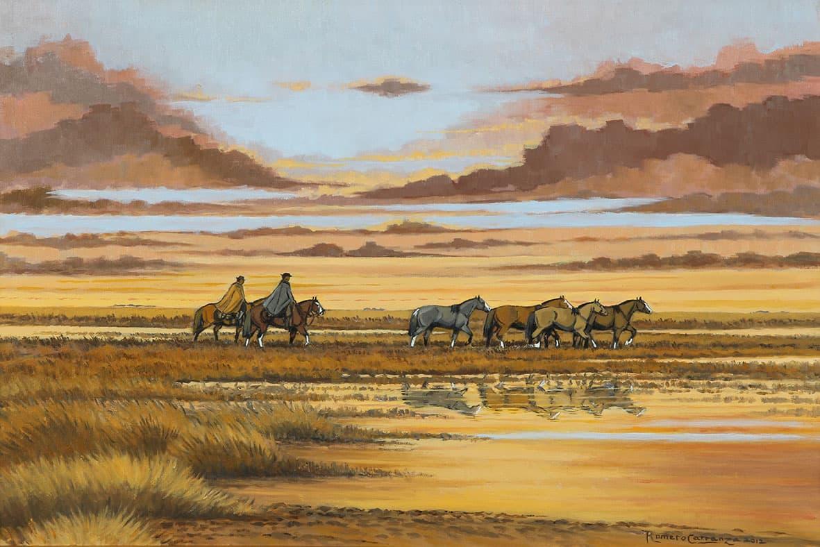 "Romero Carranza. ""De vuelta al pago"", óleo sobre lienzo, 40x60cm, 2012."
