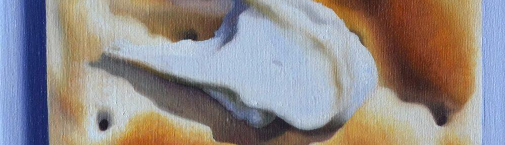 """""""Minimalismo"""", óleo sobre lienzo, 24 x 18 cm, 2016."""