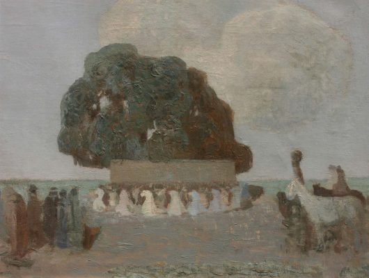 """Pedro Figari, """"Pericón nocturno"""", 50x60cm, óleo sobre lienzo, 1920."""