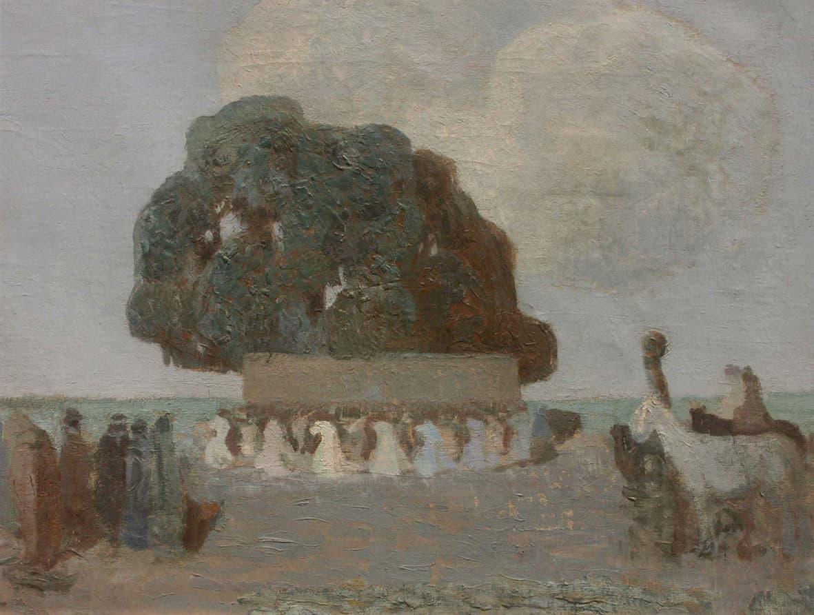 En Colección Alvear exhibimos esta pintura que el uruguayo Pedro Figari expuso en su primera muestra que realizó en Buenos Aires en 1921 en Galería Müller. A su vez, esta obra fue elegida para integrar la gran retrospectiva del artista que se realizó en Montevideo en 1945.