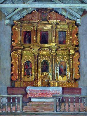 Leonie Matthis . Altar de Uquía, Jujuy . gouache sobre papel . 1932