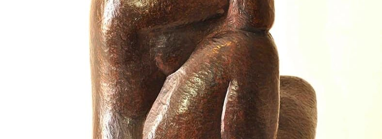 "Pablo Curatella Manes, ""Mujer sentada"", 33x18x16cm, bronce, 1916."