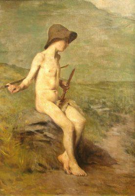 "Antonio Alice, ""Pastorcito"", 100x72cm, óleo sobre lienzo, 1906."