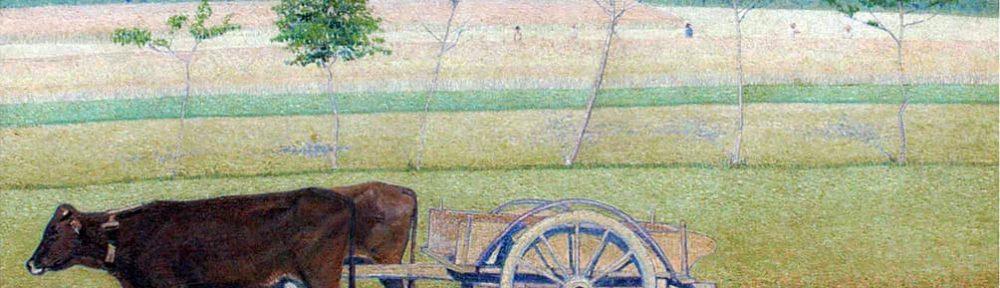 José Malanca . Carreta Tirada por Bueyes, Italia . óleo sobre lienzo . 91x121cm . 1925