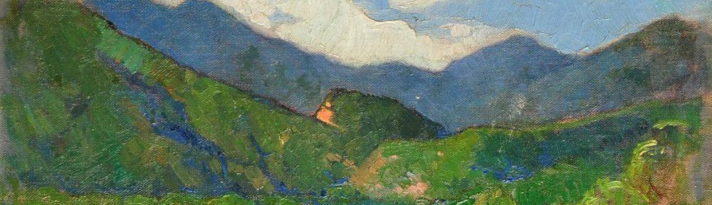 Valle de punilla, óleo sobre tabla, 33x44cm, 1928C.