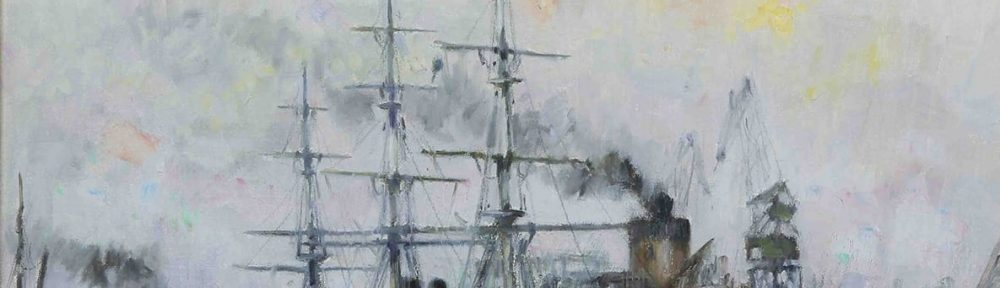 Fragata Sarmiento . óleo sobre lienzo . 50x60cm . 1965