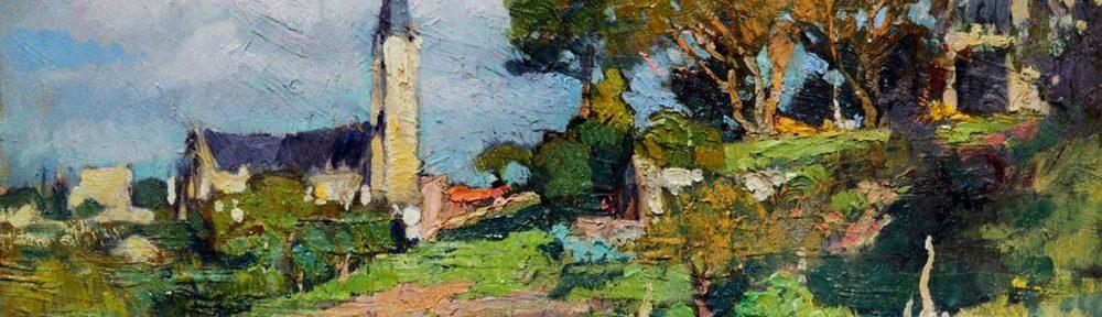 Lomas de San Isidro, óleo sobre cartón, 28x38cm, 1922.