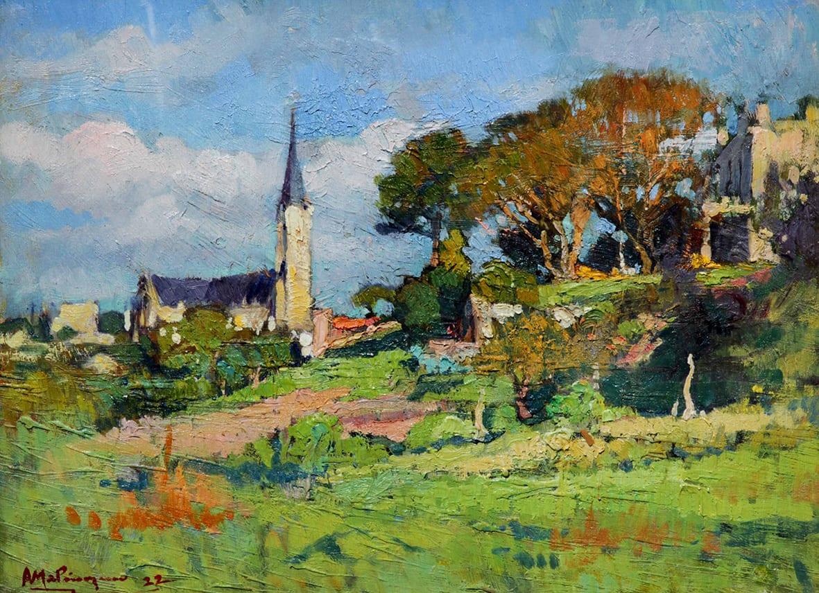 Esta obra fue pintada el 1 de agosto de 1922. Fue expuesta el mismo año en la Asociación Cultural de Bahía Blanca, en el Salón de Actos del Palacio Municipal, en la exposición individual del artista.