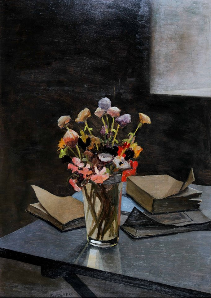 """""""Flores"""" . Óleo sobre lienzo  . 1940"""